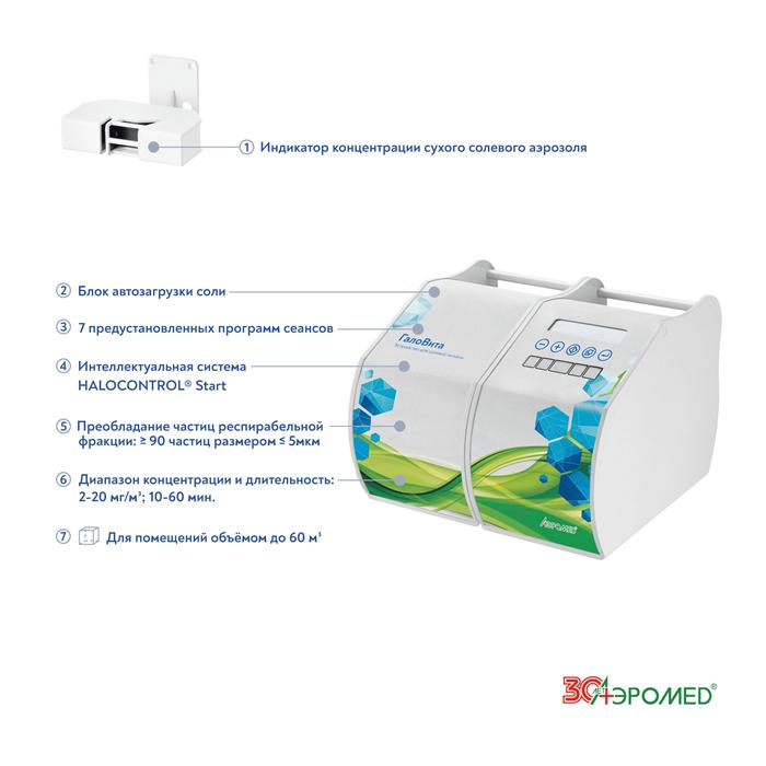 Галогенератор для оборудования соляных комнат в домашних условиях ГалоВита