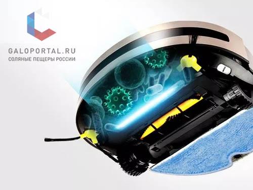Роботы-пылесосы, оснащенные УФ-лампой