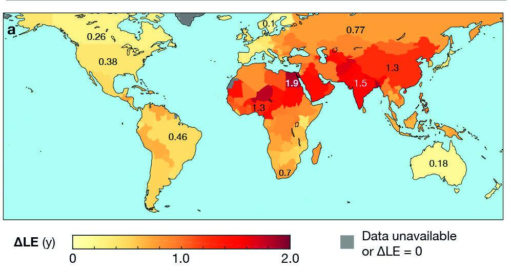Сколько лет жизни отнимает воздушное загрязнение
